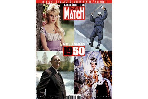 Les décennies Paris Match. Volume 1, « Nos années 1950 », chez votre marchand de journaux, 7,95 euros.