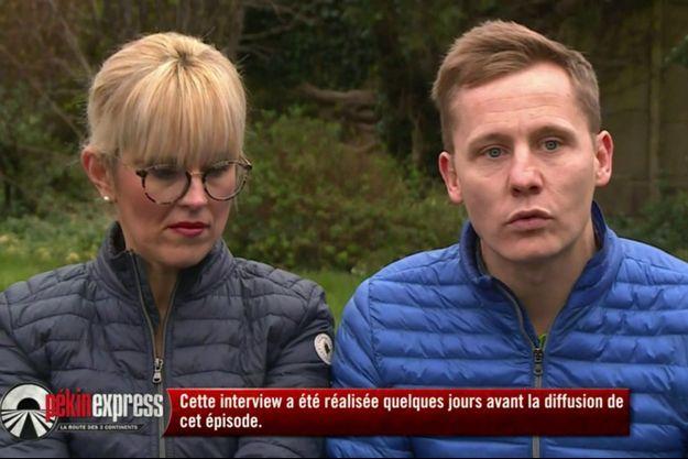 """L'aventure """"Pékin Express"""" s'est terminée après un accident de la route pour Aurore et Jonathan."""