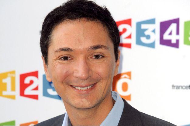 Philippe Verdier à la conférence de presse de la rentrée France Télévisions en 2012.