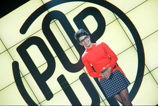 """Audrey Pulvar sur le plateau de """"Pop up""""."""
