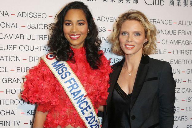 Clémence Botino (Miss France 2020) et Sylvie Tellier