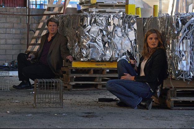 Nathan Fillion (Richard Castle) et Stana Katic (Kate Beckett).