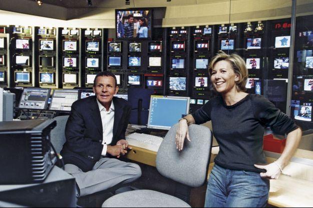 A la régie du 20 heures en décembre 2002. Depuis onze ans, Claire présente, en alternance avec Patrick, le journal le plus regardé de France.