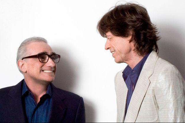 Martin Scorsese et Mick Jagger sur le tournage de «Shine a Light».