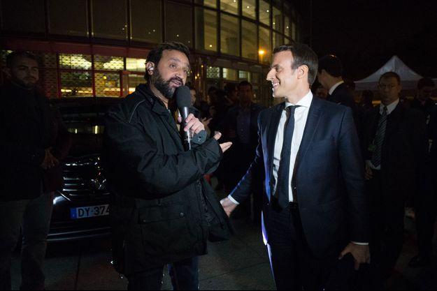 Cyril Hanouna et Emmanuel Macron jeudi soir.
