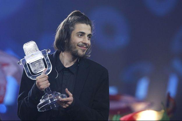 Salvador Sobral le soir de sa victoire à l'Eurovision en 2017.