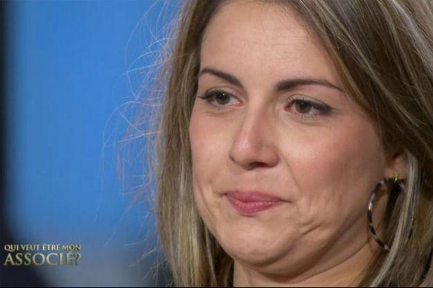 """Sarah dans """"Qui veut être mon associé""""."""