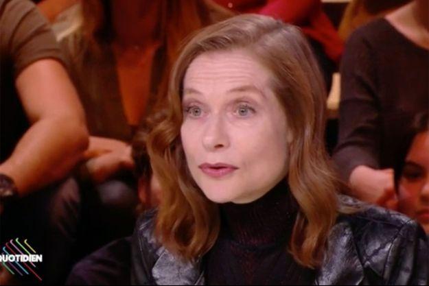 """Isabelle Huppert sur le plateau de """"Quotidien"""" jeudi."""
