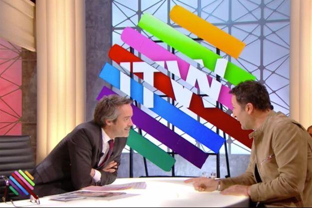 """Yann Barthès et Arthur sur le plateau de """"Quotidien"""" jeudi."""