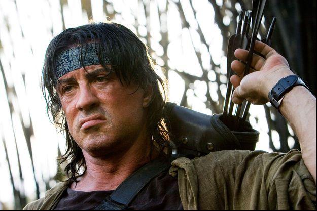 "Sylvester Stallone dans ""Rambo IV""."