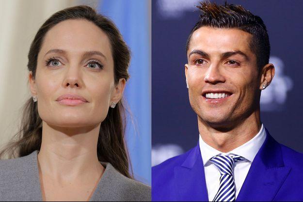 Angelina Jolie et Cristiano Ronaldo.
