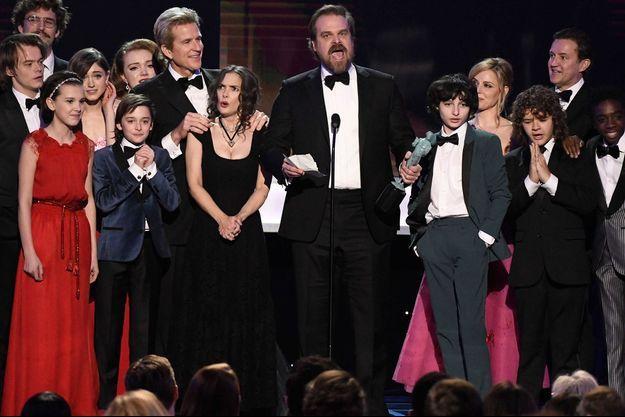 """Le casting de """"Stranger Things"""" dimanche soir aux SAG Awards."""