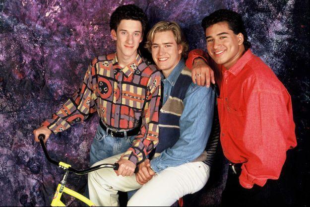 Dustin Diamond, Mark-Paul Gosselaar et Mario Lopez en 1993.