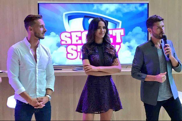 Julien, Leila et Christophe Beaugrand lors de la conférence de presse Secret Story.