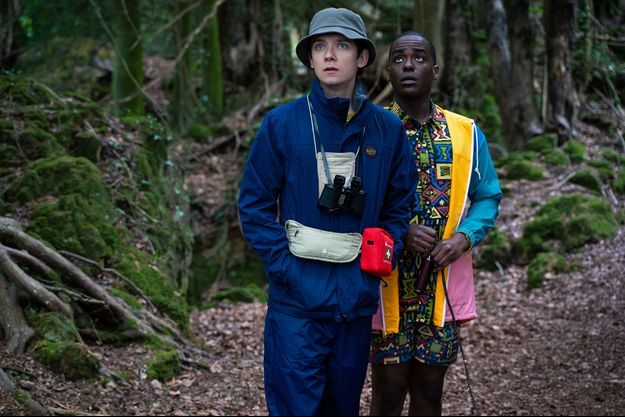 "Asa Butterfield et Ncuti Gatwa dans ""Sex Education""."