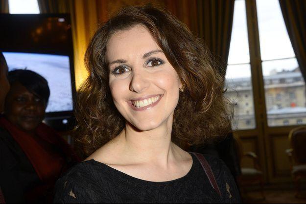 Fanny Agostini au 12ème Forum international de la météo et du climat en 2015, à Paris.