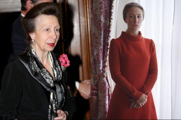 La princesse Anne et l'actrice qui joue son rôle, Erin Doherty.