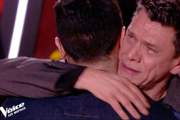 """Marc Lavoine samedi sur le plateau de """"The Voice""""."""