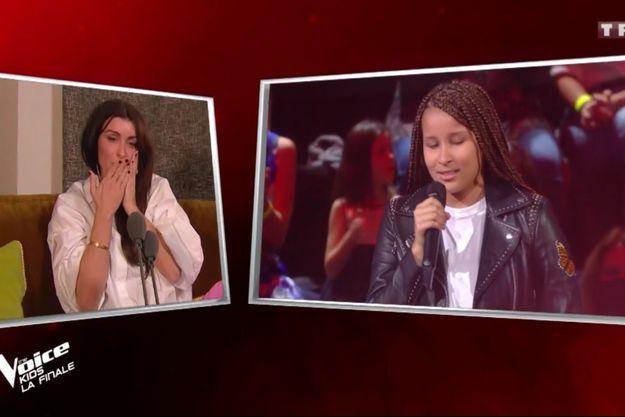 "Jenifer et Sara dans ""The Voice Kids"" samedi."