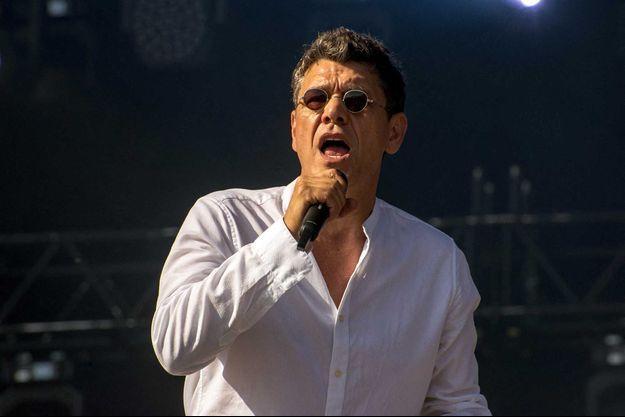 Marc Lavoine sur scène en 2019.