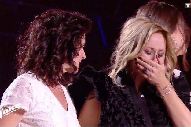 """Maria et Lara Fabian sur le plateau de """"The Voice"""" samedi."""