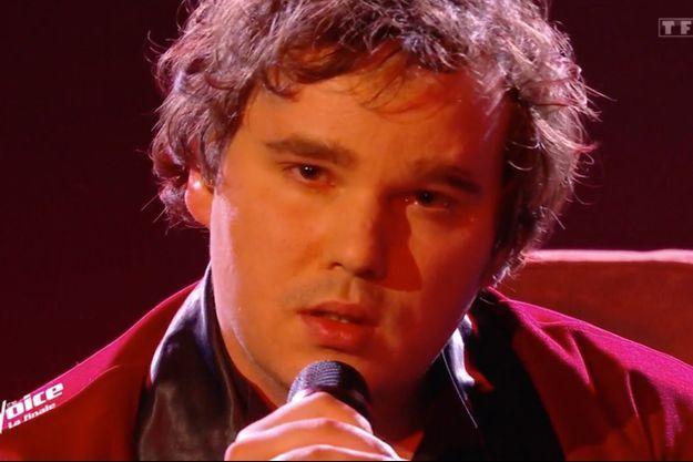 """Jim Bauer lors de la finale de """"The Voice""""."""