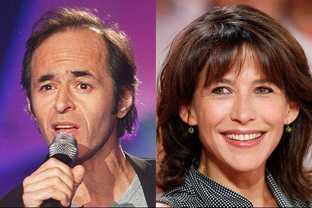 Jean-Jacques Goldman et Sophie Marceau (montage)