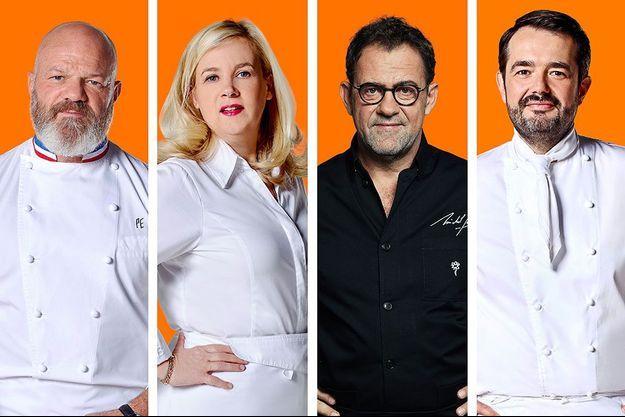 """Les quatre chefs de brigade de """"Top Chef""""."""