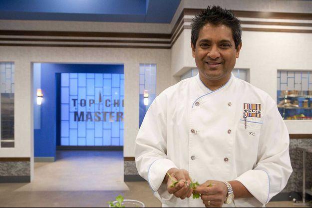 """Floyd Cardoz dans l'émission """"Top chef Masters"""", en 2011."""