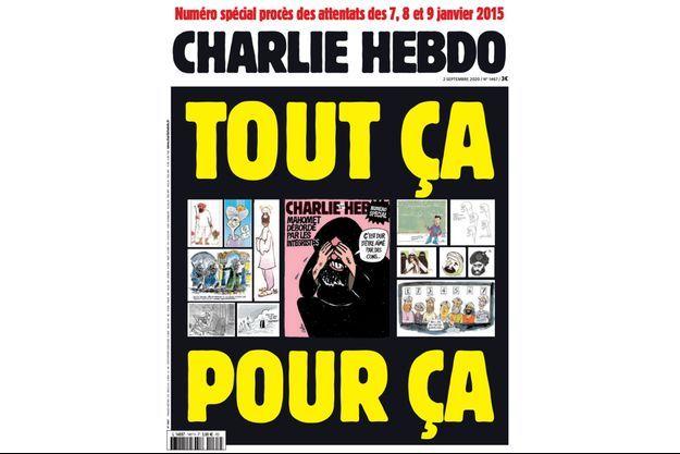 La couverture du numéro de Charlie Hebdo du 1er septembre 2020.