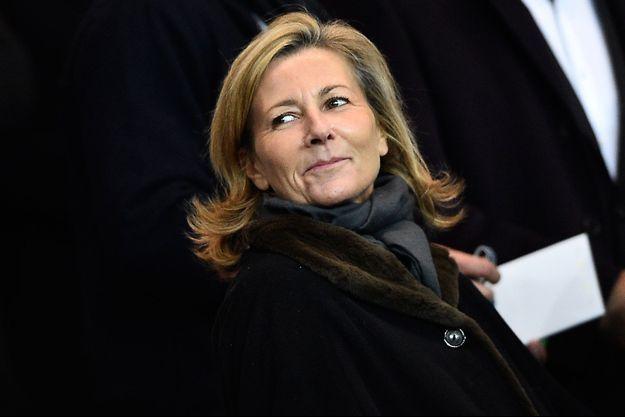 Claire Chazal au Parc des Princes le 15 février dernier.