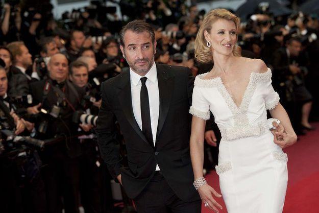 Jean Dujardin et Alexandra Lamy au Festival de Cannes en mai 2012.