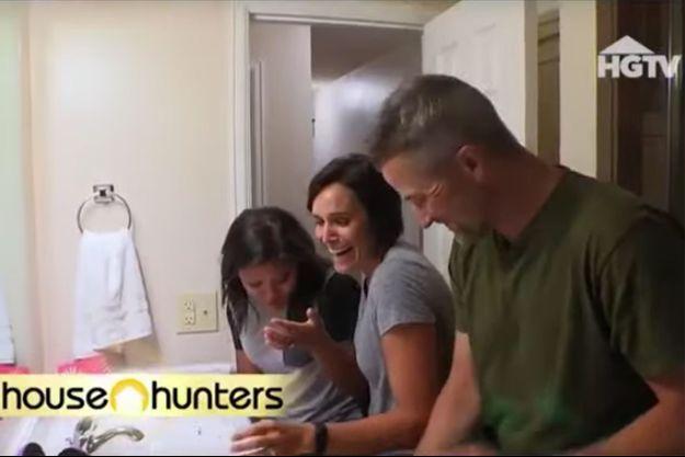 """Geli, Lori et Brian dans """"House Hunters""""."""