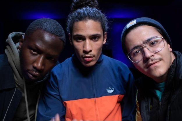 """Brahim Bouhlel, Hatik, Saïdou Camara dans la saison """"Validé""""."""