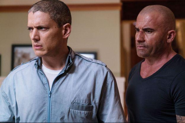 """Wentworth Miller et Dominic Purcell dans la saison 5 de """"Prison Break""""."""