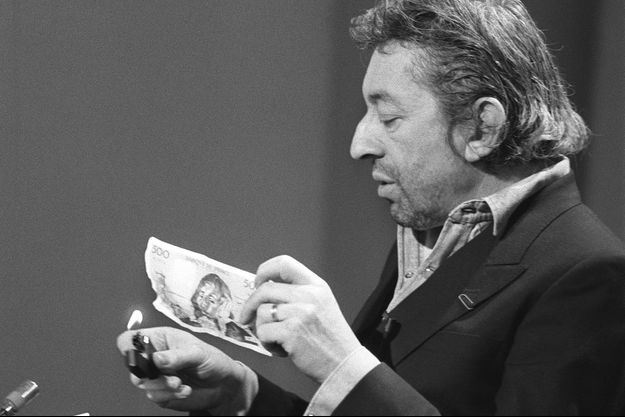 Serge Gainsbourg sur le plateau de «7 sur 7» en mars 1984.