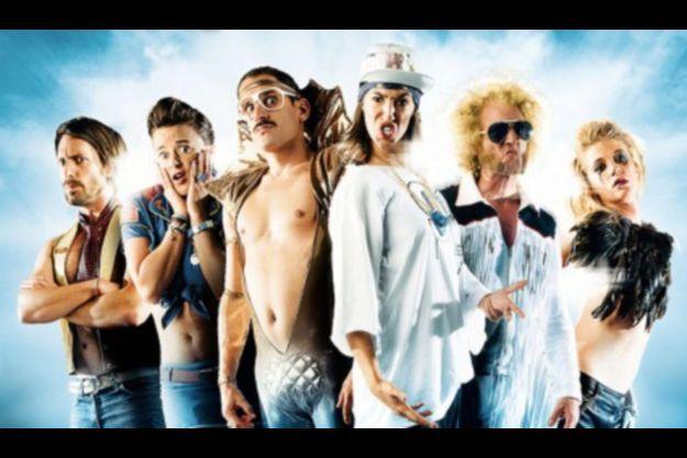 Moche Pitt, Scotch Brit, Gunther Love, M-Rodz, Chateau Brutal et Jean Françoise, sur l'affiche de la comédie «Musiculte»