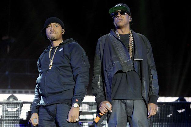 Nas et Jay Z au Festival de Coachella en 2014.