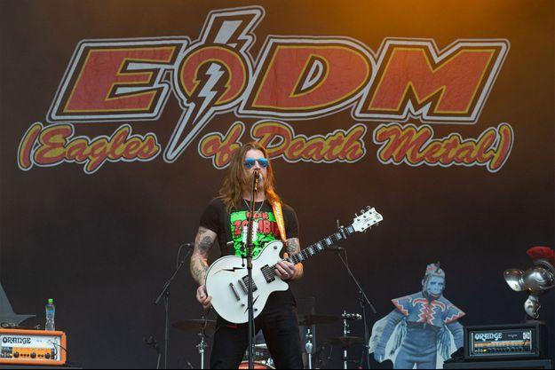Le leader des Eagles of Death Metal, début juin lors du Download Festival.