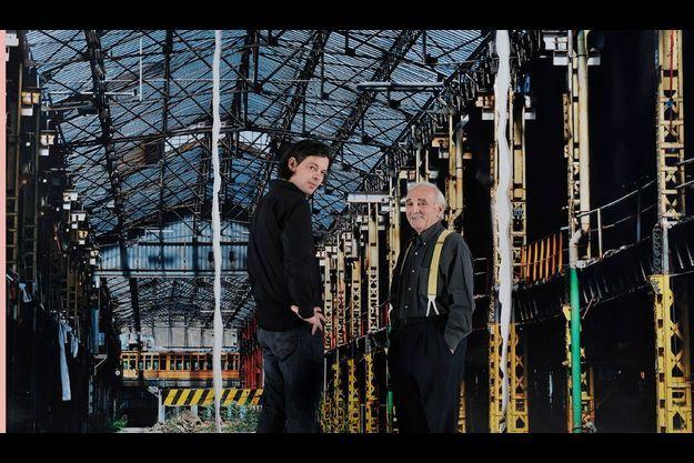 Benjamin Biolay et Charles Aznavour