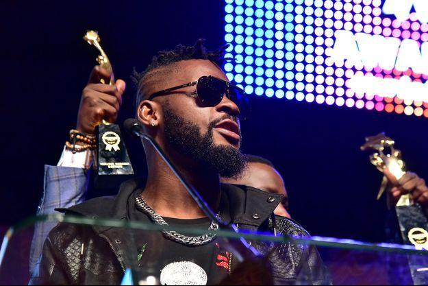 Le chanteur ivoirien DJ Arafat aux Awards du Coupé-Décalé, à Abidjan, en 2017.
