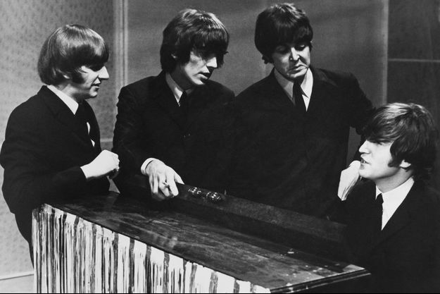 Les Beatles en 1960.