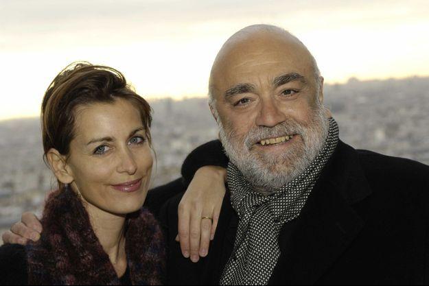Demis Roussos et sa fille Emily à Paris en 2005.
