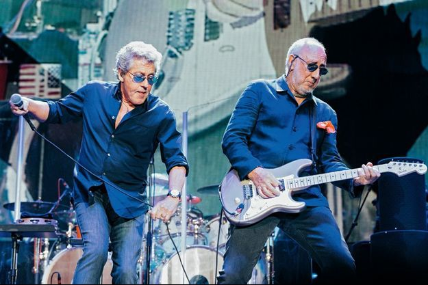 Roger Daltrey et Pete Townshend, le dimanche 9 octobre.