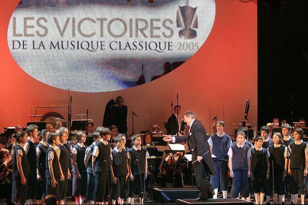 Les Petits chanteurs de Saint-Marc lors des Victoires de la musique en 2005.