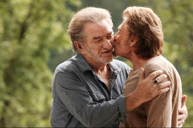 "Eddy et Johnny dans ""Salaud on t'aime"" de Claude Lelouch en 2013"