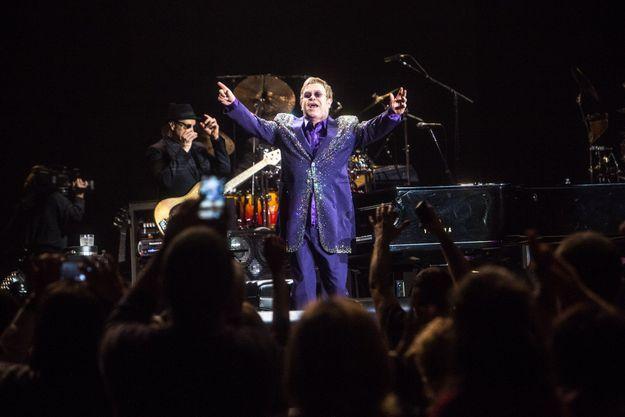 Concert d'Elton John à Milan en 2014.