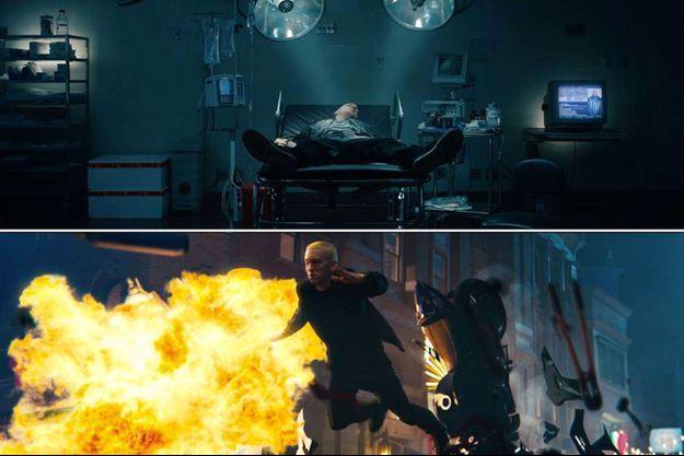 """Eminem a dévoilé son nouveau clip """"Phenomenal"""" dans lequel apparaissent John Malkovich et Dr Dre"""