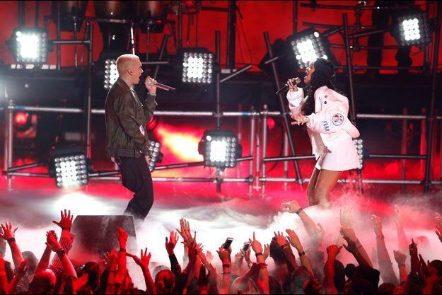 Eminem et Rihanna ont enflammé la scène des MTV Movie Awards, à Los Angeles, le 13 avril dernier.