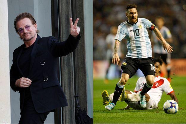 Bono et Messi, au coude à coude.